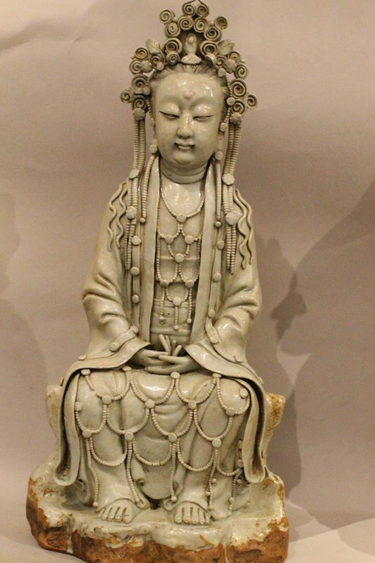 A Large Chinese Porcelain Guanyin - 12