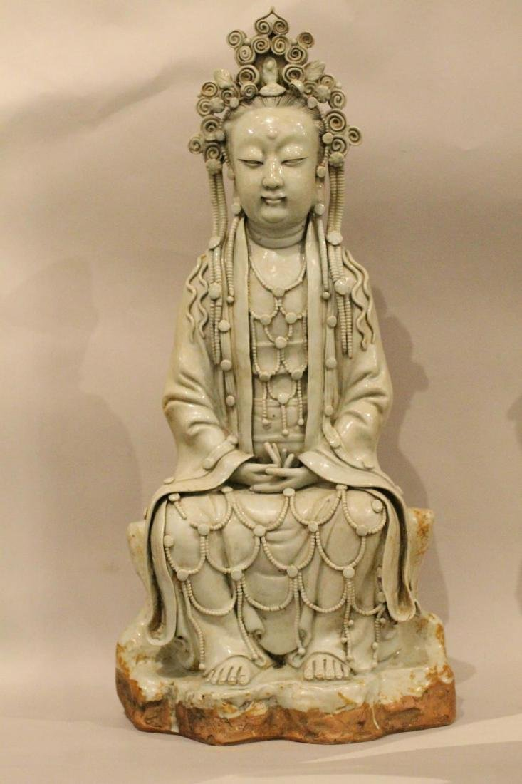 A Large Chinese Porcelain Guanyin