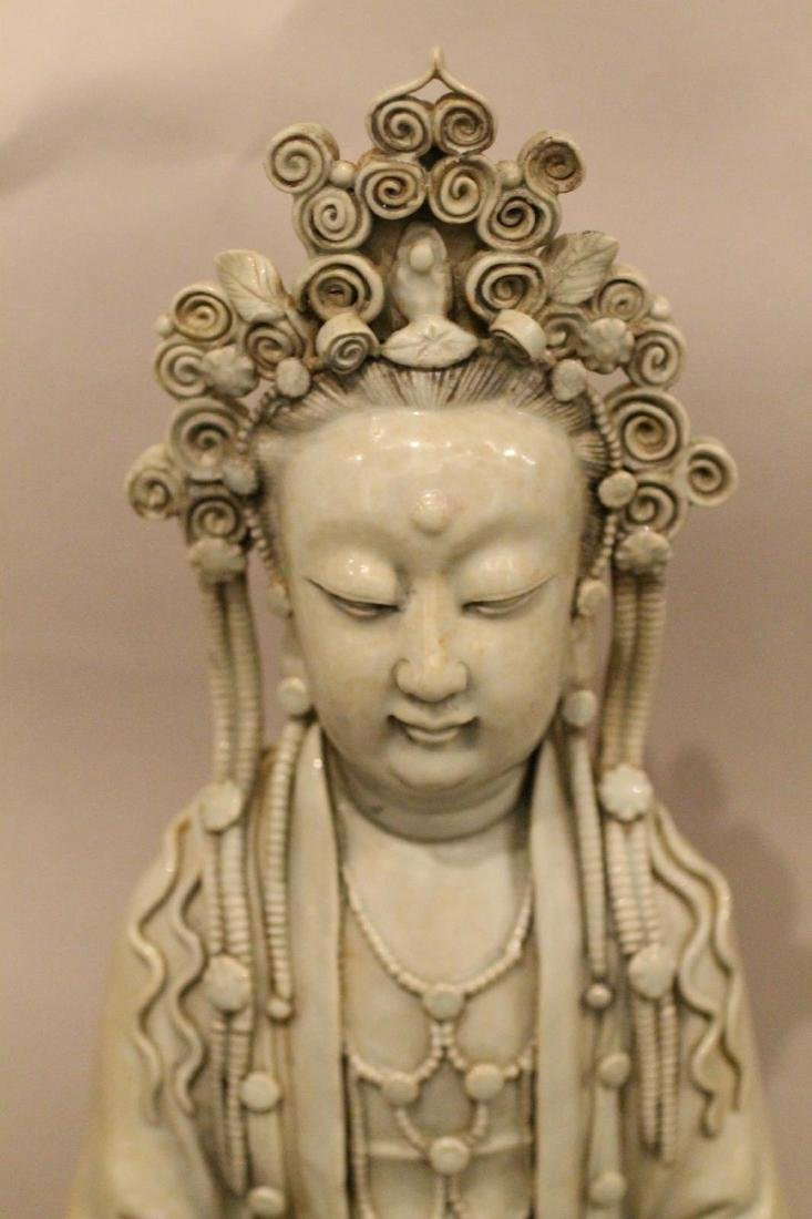 A Large Chinese Porcelain Guanyin - 2