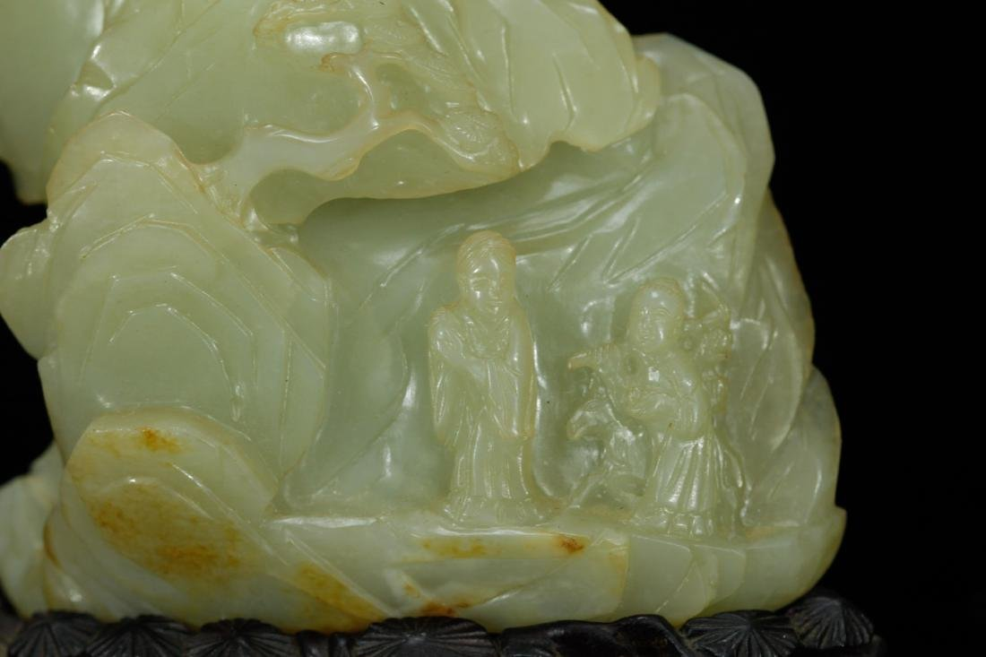 18th C. Chinese Jade Carved Mountain - 3