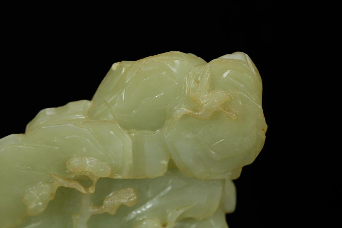 18th C. Chinese Jade Carved Mountain - 6