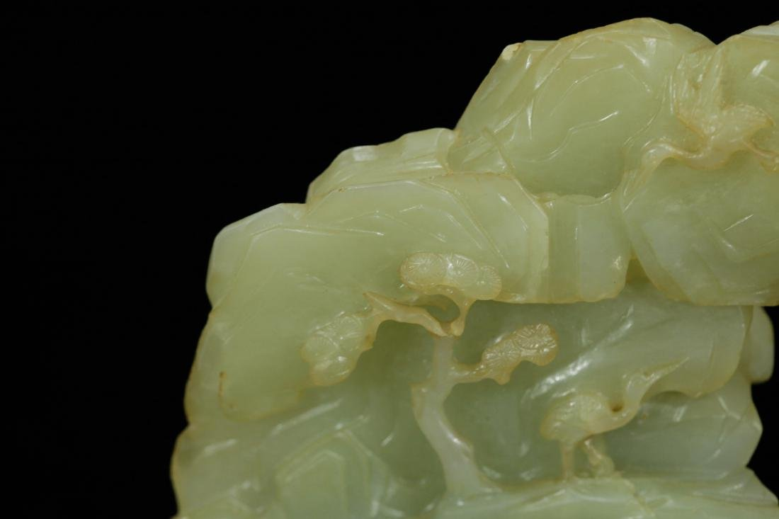 18th C. Chinese Jade Carved Mountain - 7