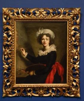 Oil painting on Canvas w/ Italian Gilt Wood Frame