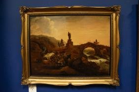 Dutch 19th C. Oil Painting on Canvas