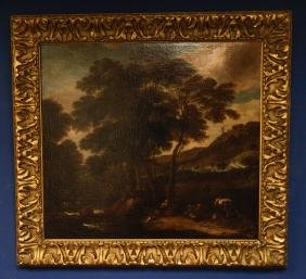 A Very Large Old Master Oil on Canvas