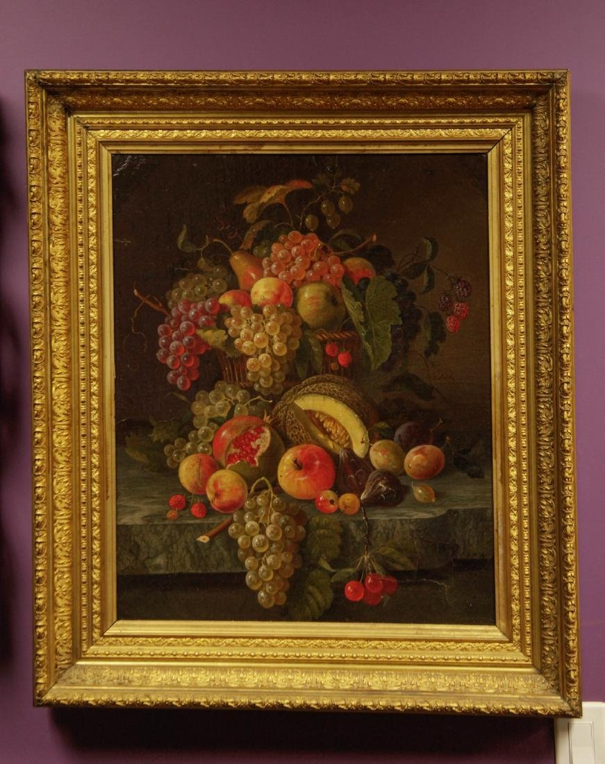 18th C. Old Master Still Life Oil on Canvas, Signe