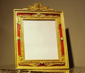 French Gilt Bronze Frame w/ Enamel