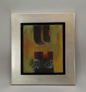 """Oil Painting on Canvas, Signed """"Szyszlo"""""""