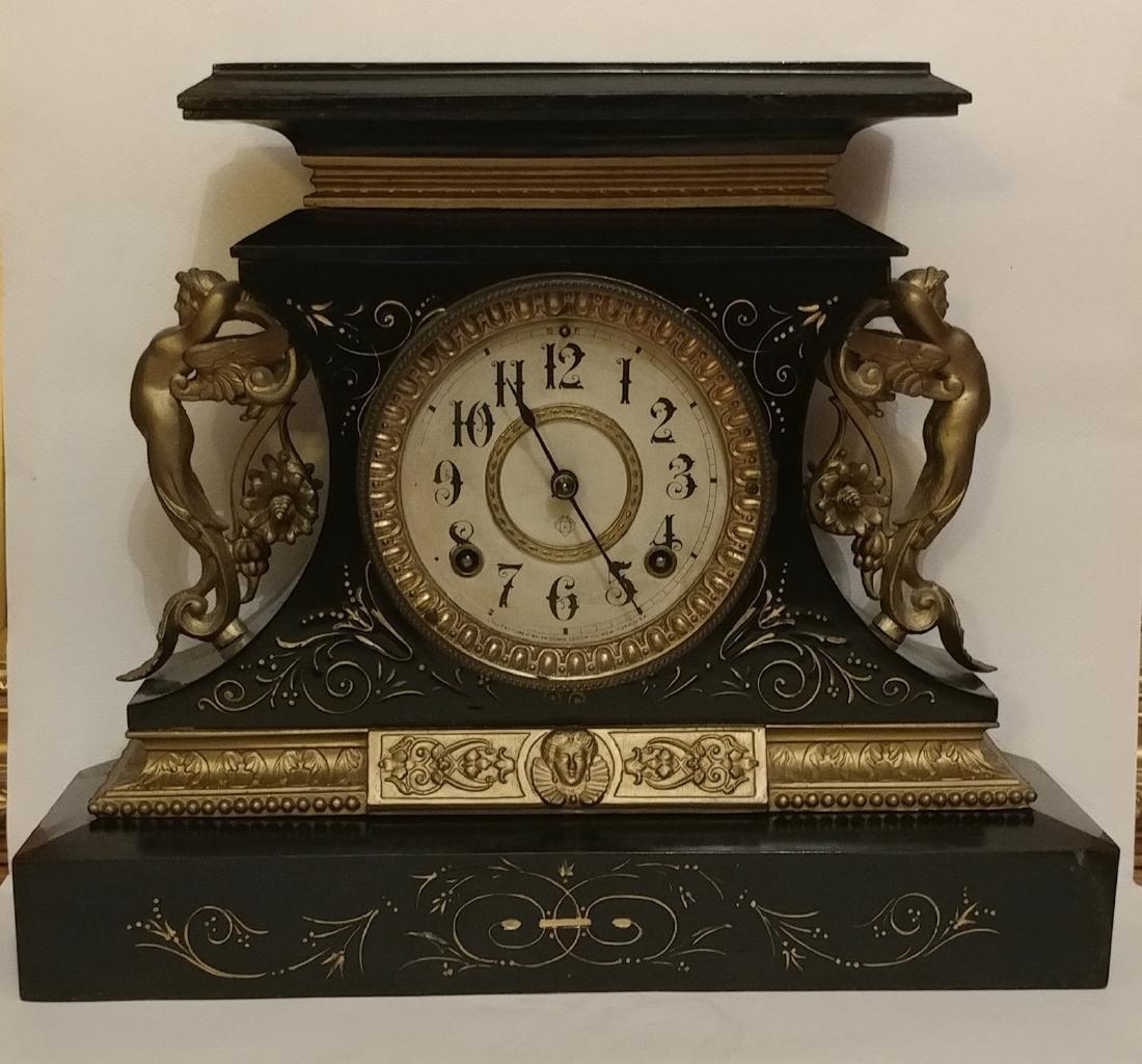 Vintage Ansonia Clock Company New York.Marble