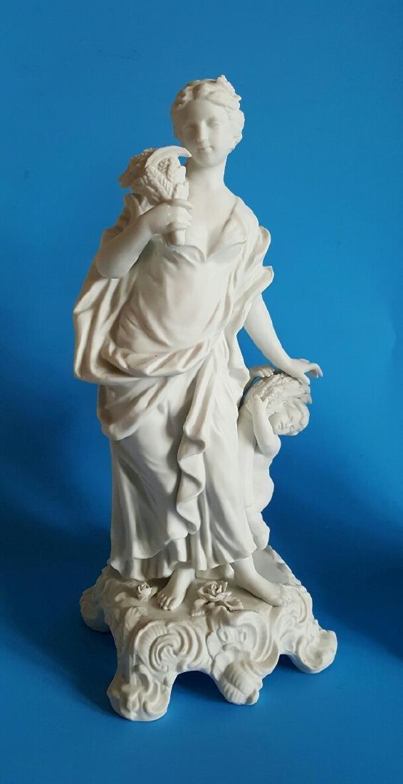 Pair Sevres Style Parian Porcelain Figures - 2
