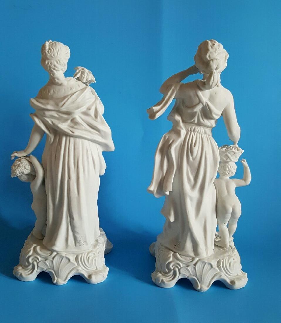 Pair Sevres Style Parian Porcelain Figures - 4