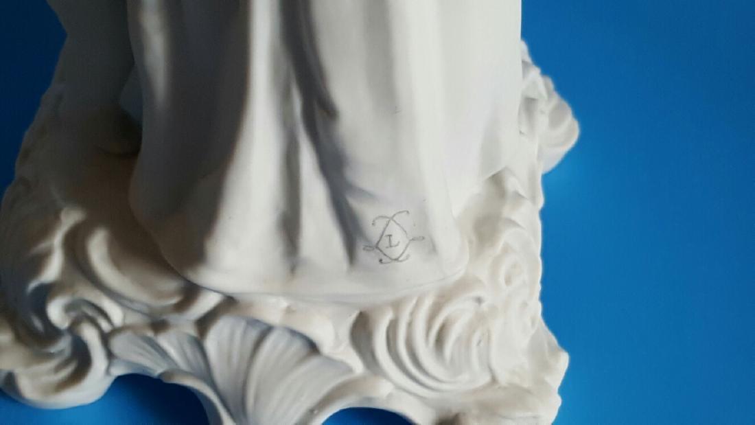 Pair Sevres Style Parian Porcelain Figures - 5