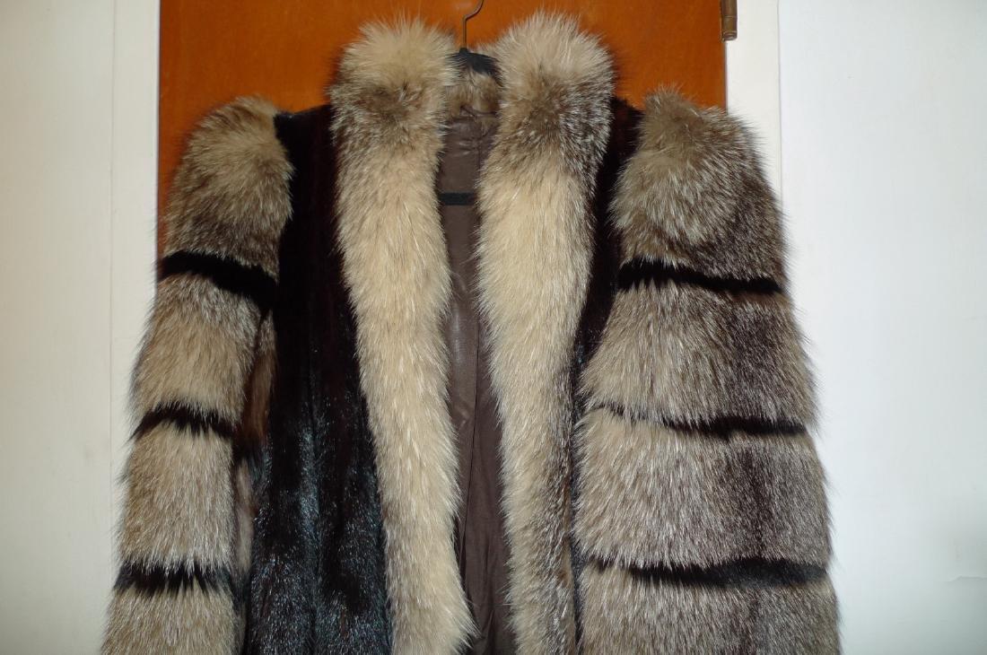 Mink woman's fur coat
