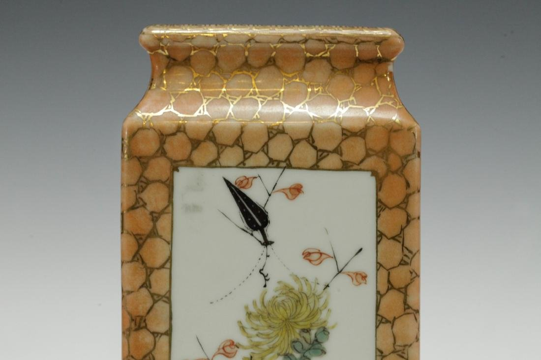 Chinese Republic Period Famille Rose Vase - 6