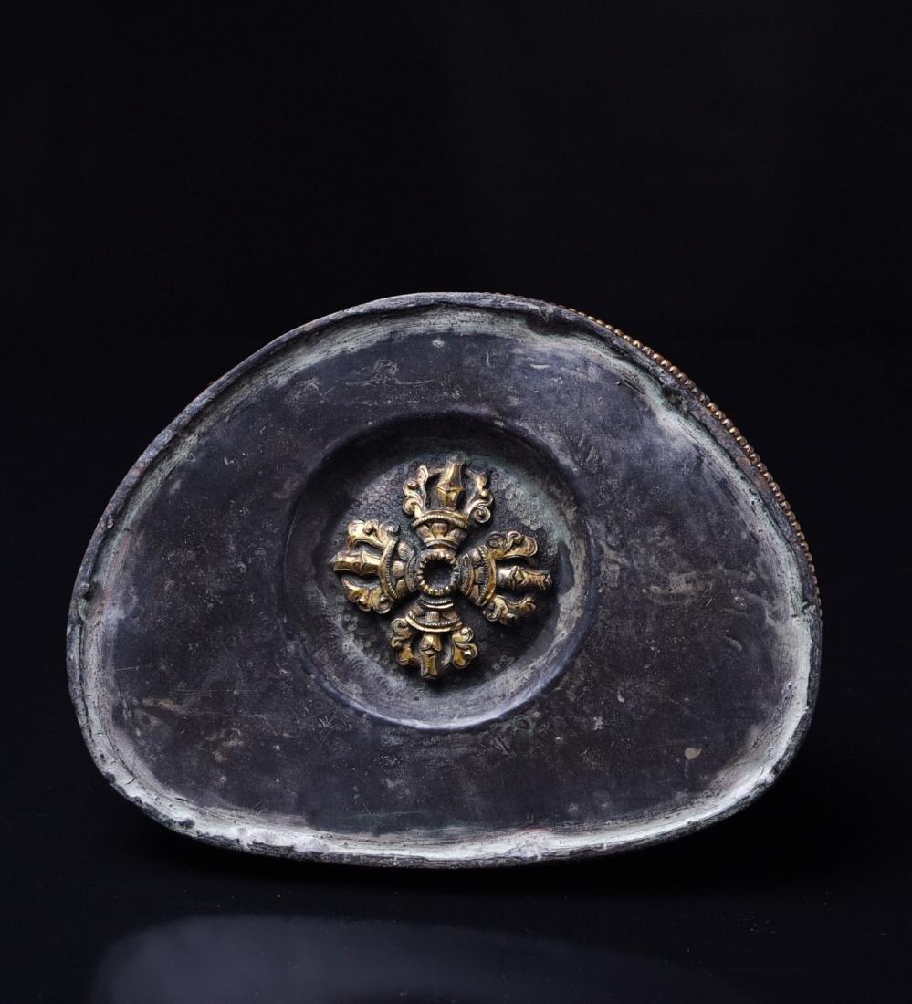 Chinese Gilt Bronze Seating Buddha - 5