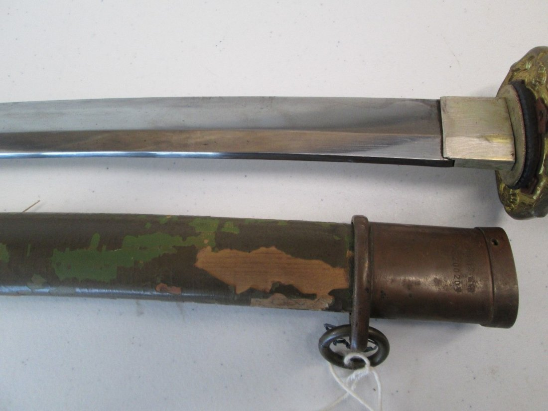 WW2 JAPANESE ARMY OFFICERS SWORD WITH SCABBARD - 3