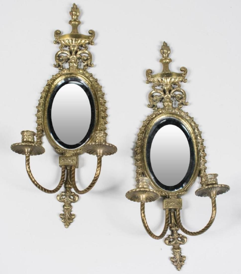 Pair of Neoclassical style Double Arm Wall Sconces