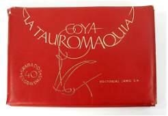 Francisco Goya portfolio  La Tauromaquia 1965