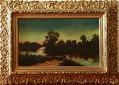 19th.C Barbizon School Oil Painting A.L.Williams
