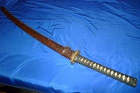 Wwii Japanese Army Samurai Officer Sword Singed
