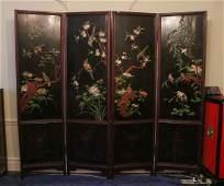 Chinese Hardwood 4 Panels Standing Screens