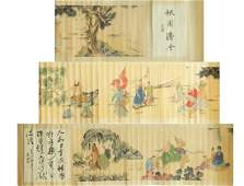 Chinese InkColor Long Scroll Painting