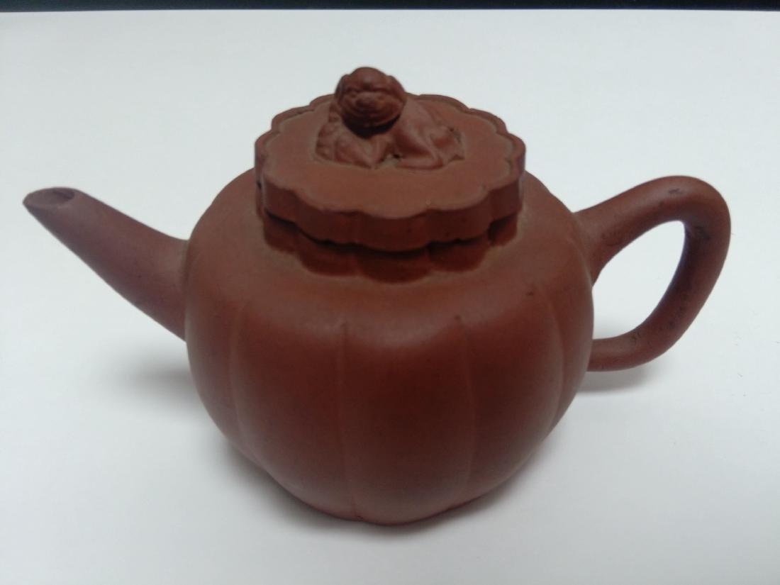 Qing Dynasty Yixing Zisha Teapot, Lion Final