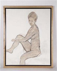 Pencil Painting Original Paintings of a Nude Lady
