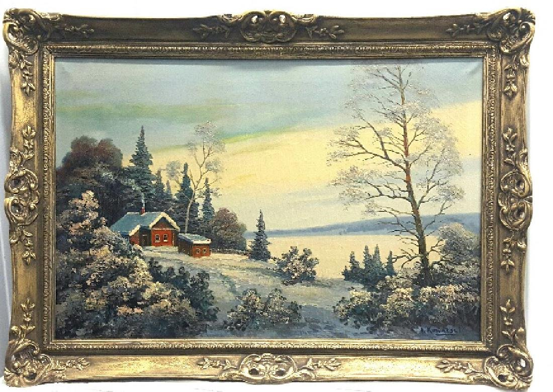 Antique Russian oil painting Ivan Kowalski (1839 -