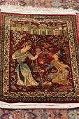 Fine Silk Handmade Persian Pictorial Rug