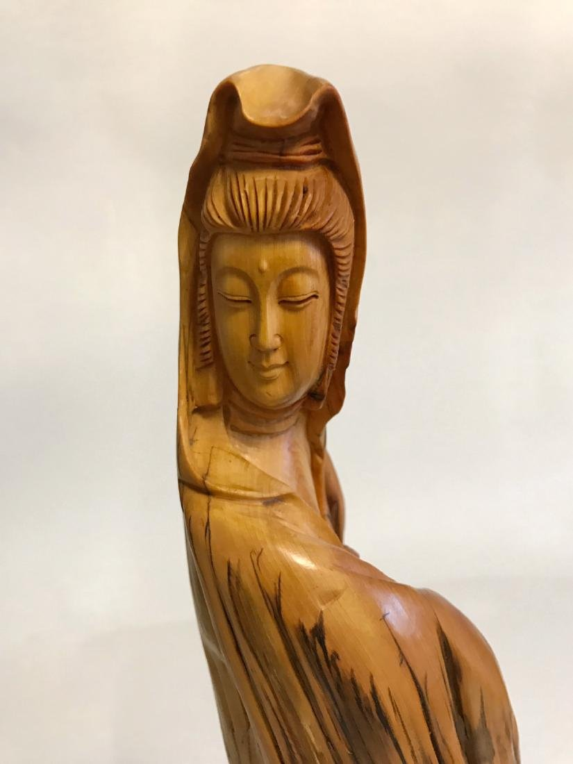 """Chinese """"YaBo"""" wood carving of GuanYin - 4"""