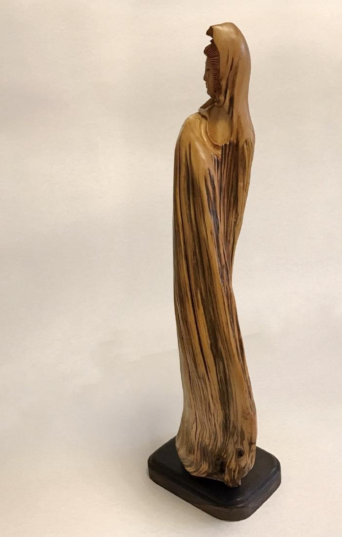 """Chinese """"YaBo"""" wood carving of GuanYin - 6"""