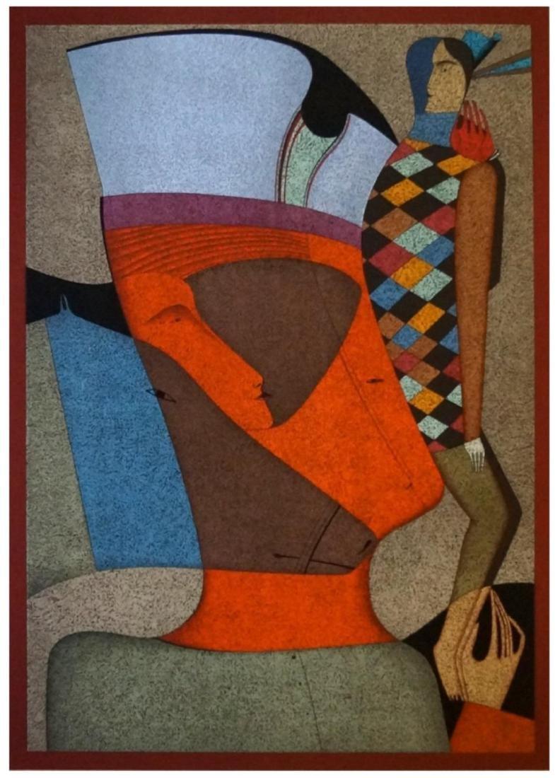 Mihail Chemiakin Color lithograph