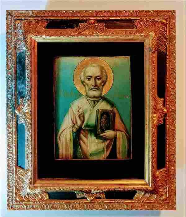 Russian icon of st.Nicholas the Wonderworker