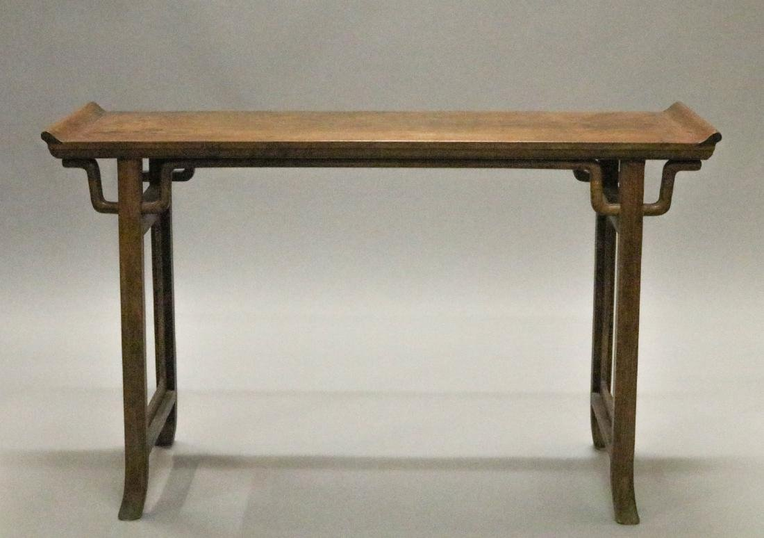 Chinese HuangHuaLi Rectangular Long Table