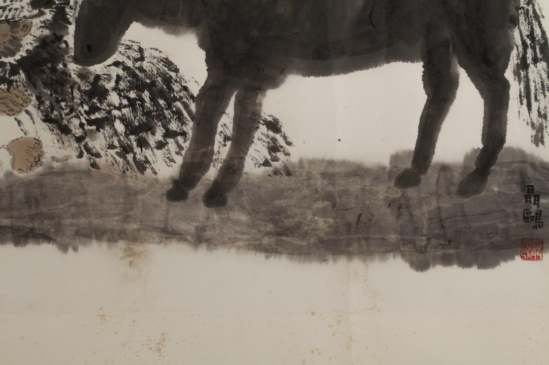 Chinese Watercolor Painting of a Donkey - 4