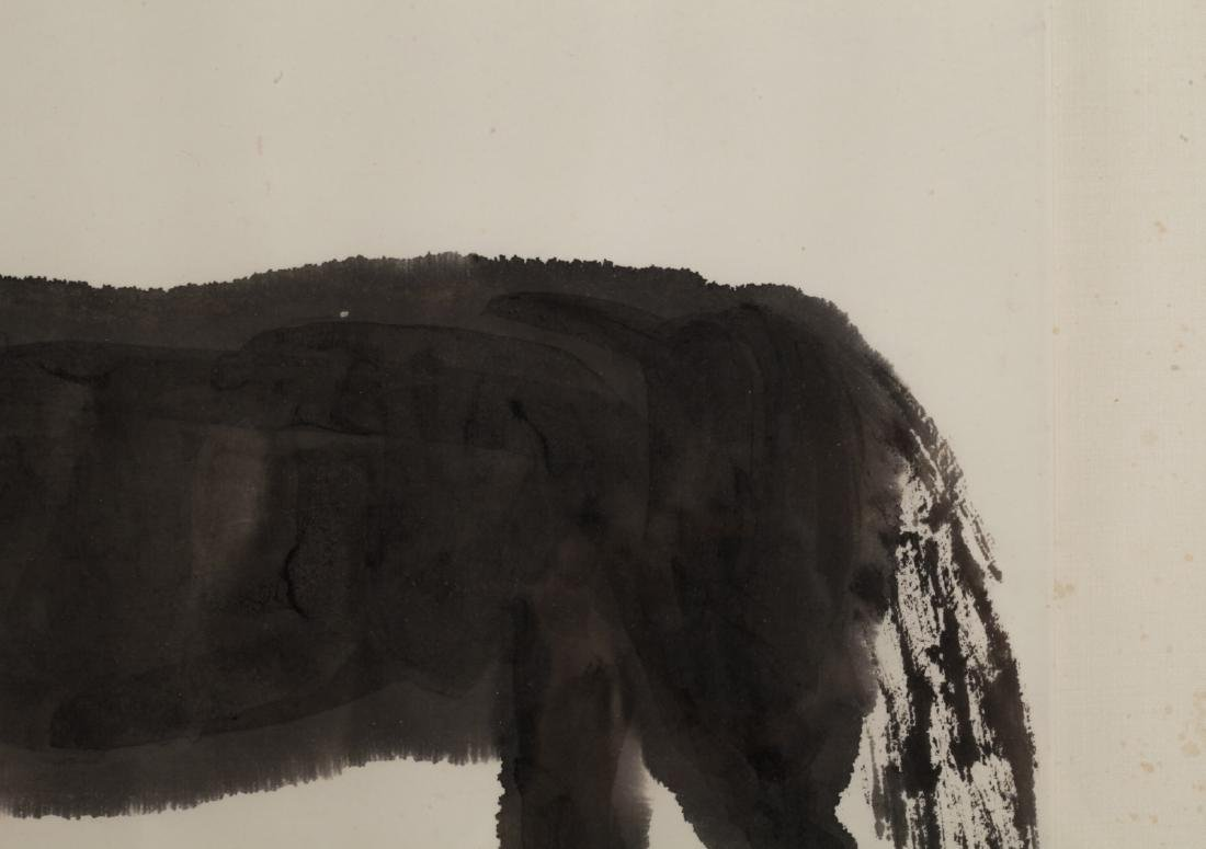 Chinese Watercolor Painting of a Donkey - 5