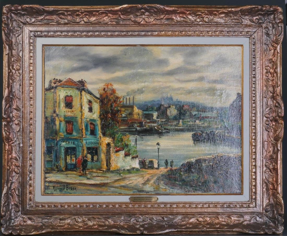 "European Oil on Canvas Painting By""Raymond Besse"""
