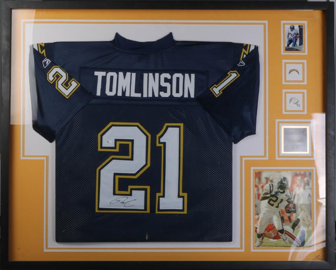 NFL MVP Player's Tomlinson Uniform and Signed