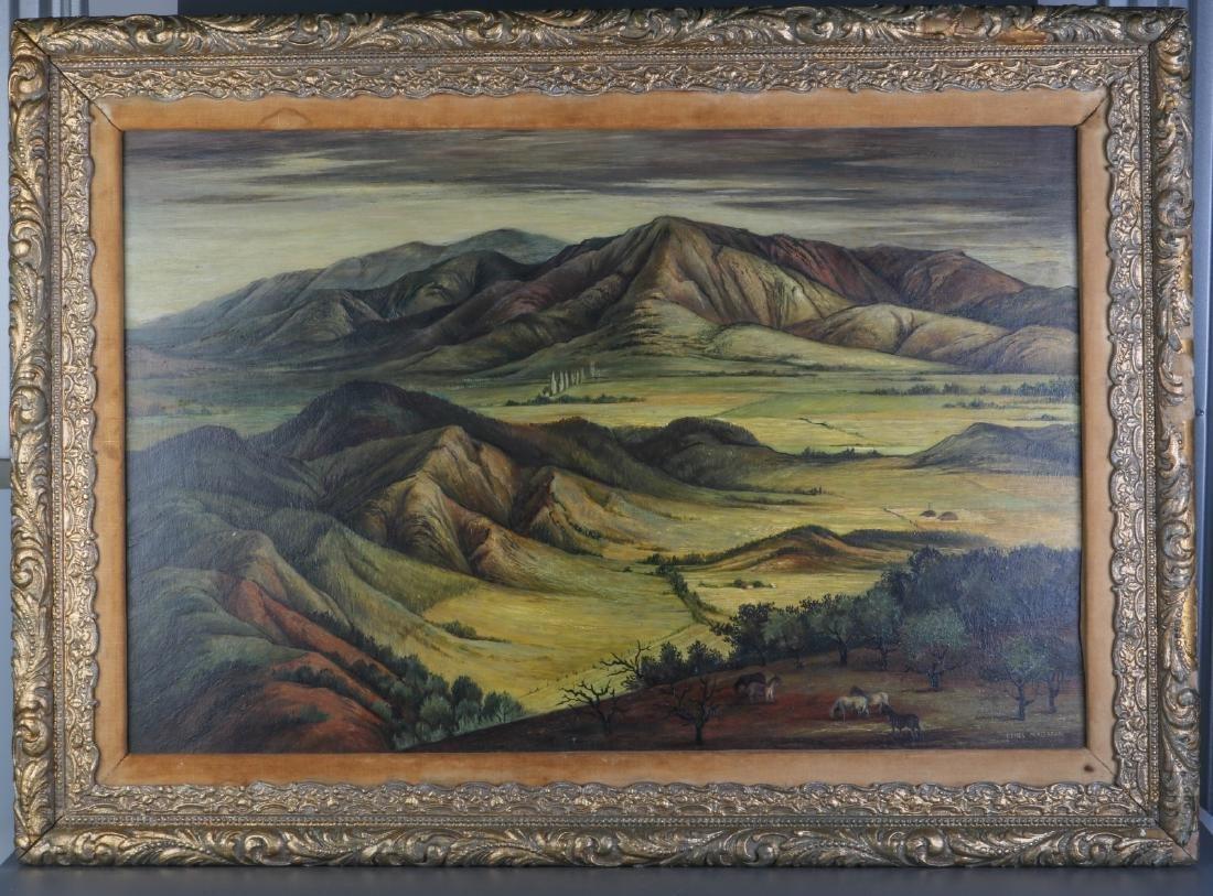Oil on Board Master Piece w/ Gilt Frame