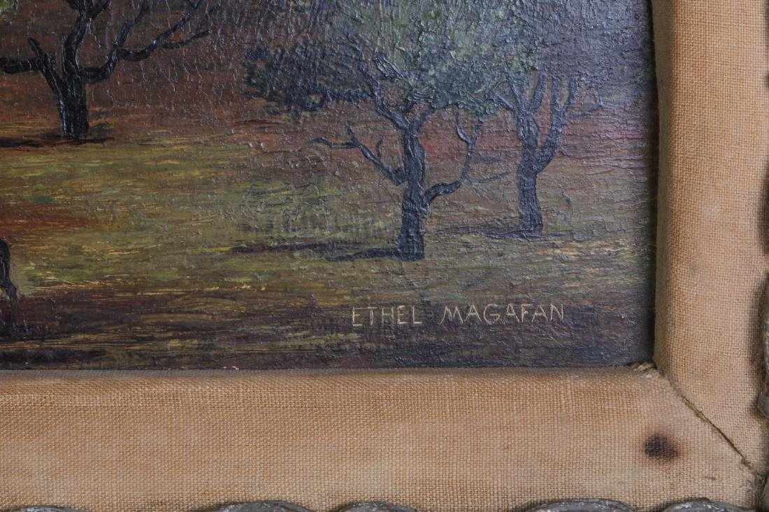 Oil on Board Master Piece w/ Gilt Frame - 8