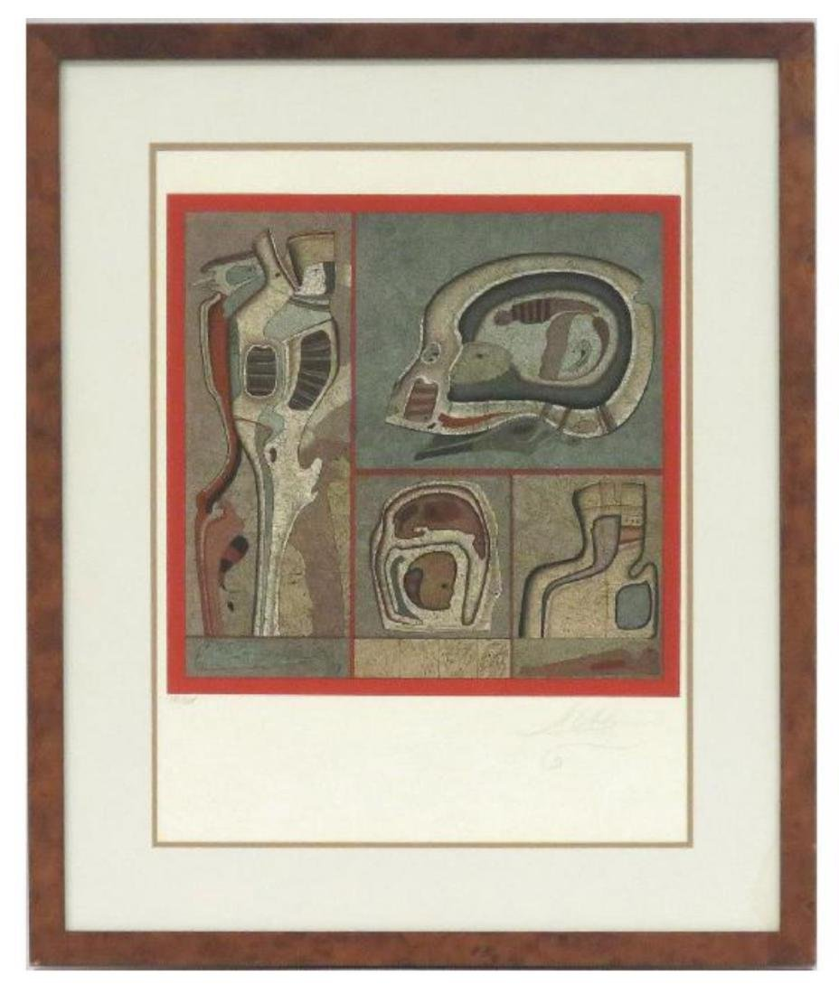 """Mihail Chemiakin Color Lithograph,""""Philosophy of t"""