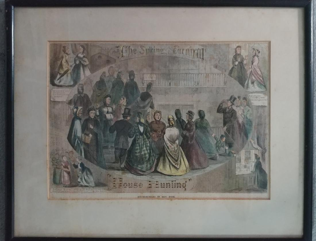 Color Print of the Spring Carnival in House-Huntin