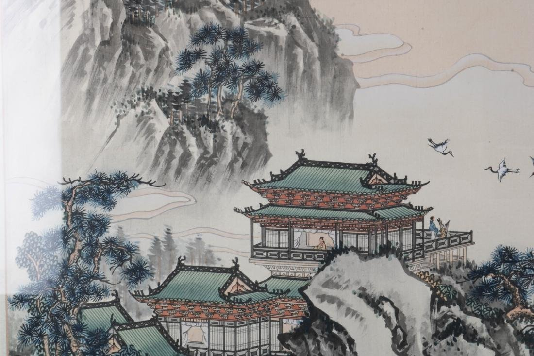 Chinese Watercolor on Silk Painting of Landscape - 4
