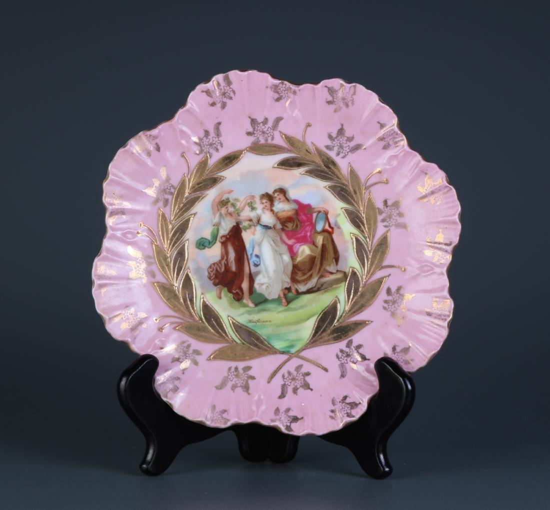 European Porcelain Plate, Marked