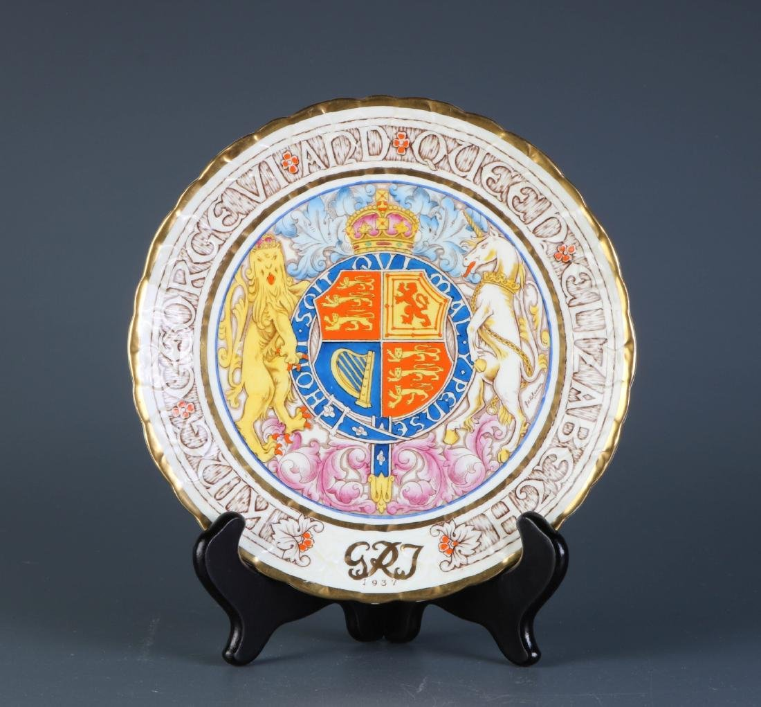 English Paragon Porcelain Plate, Marked