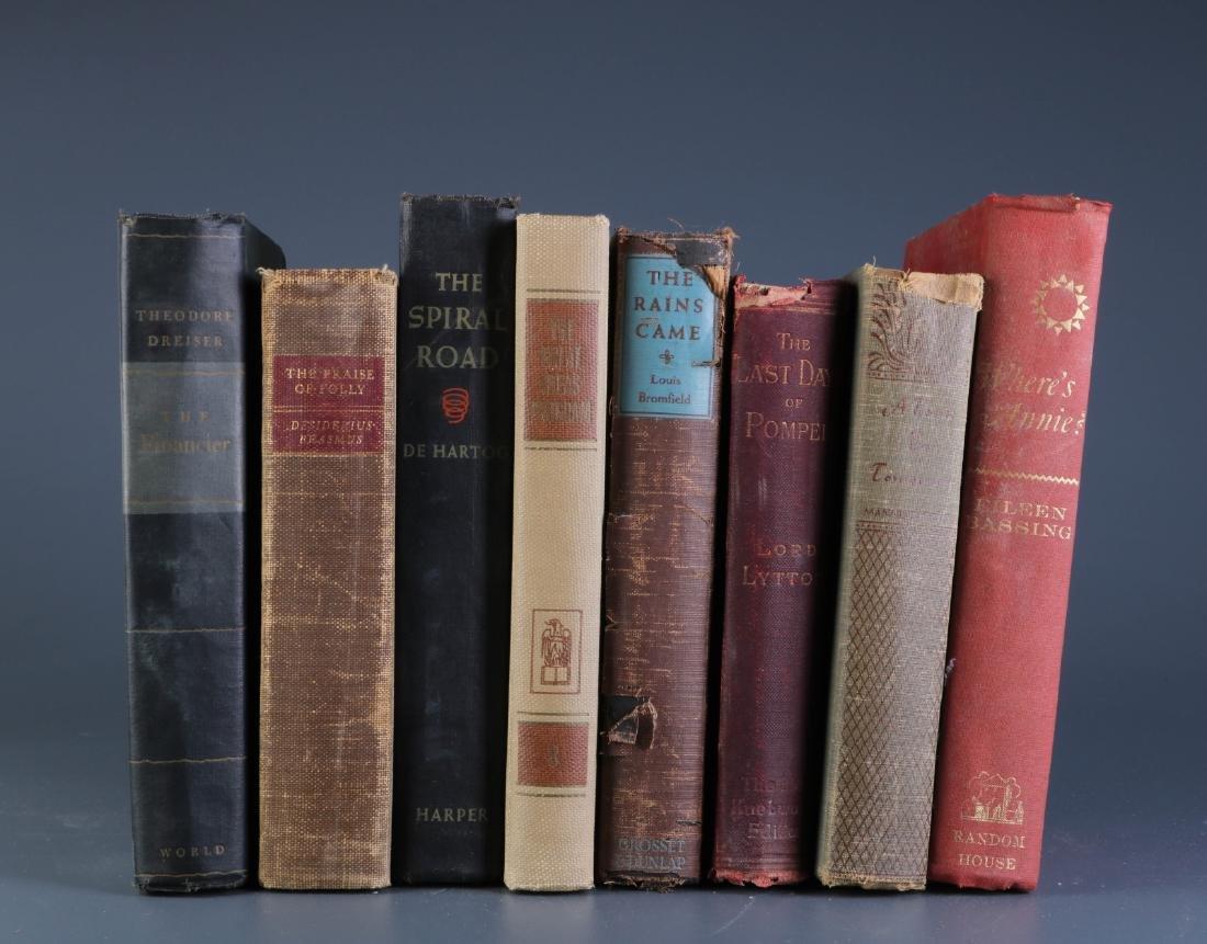 8 Antique Novel Books