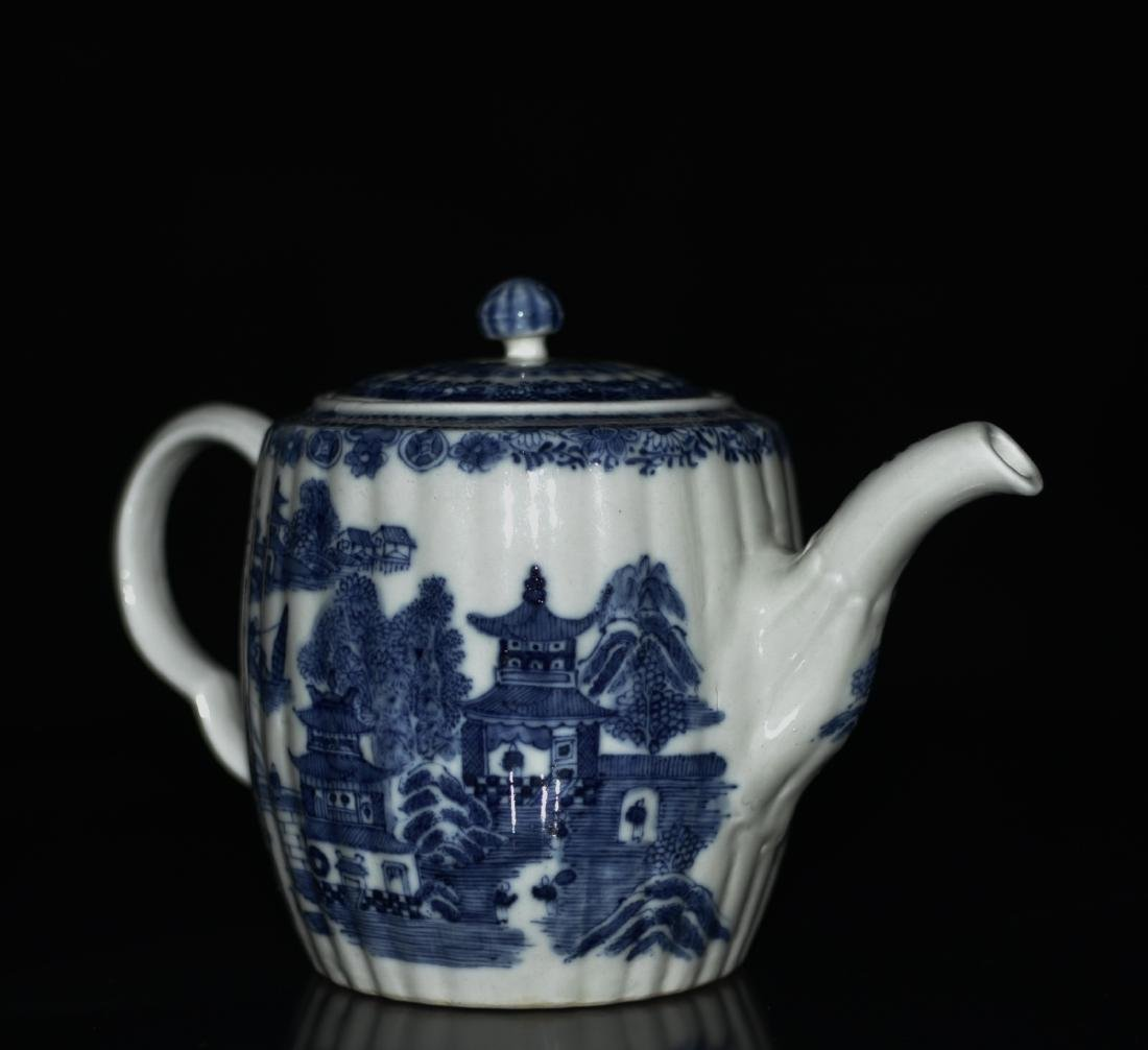 Chinese Blue/White Porcelain Teapot