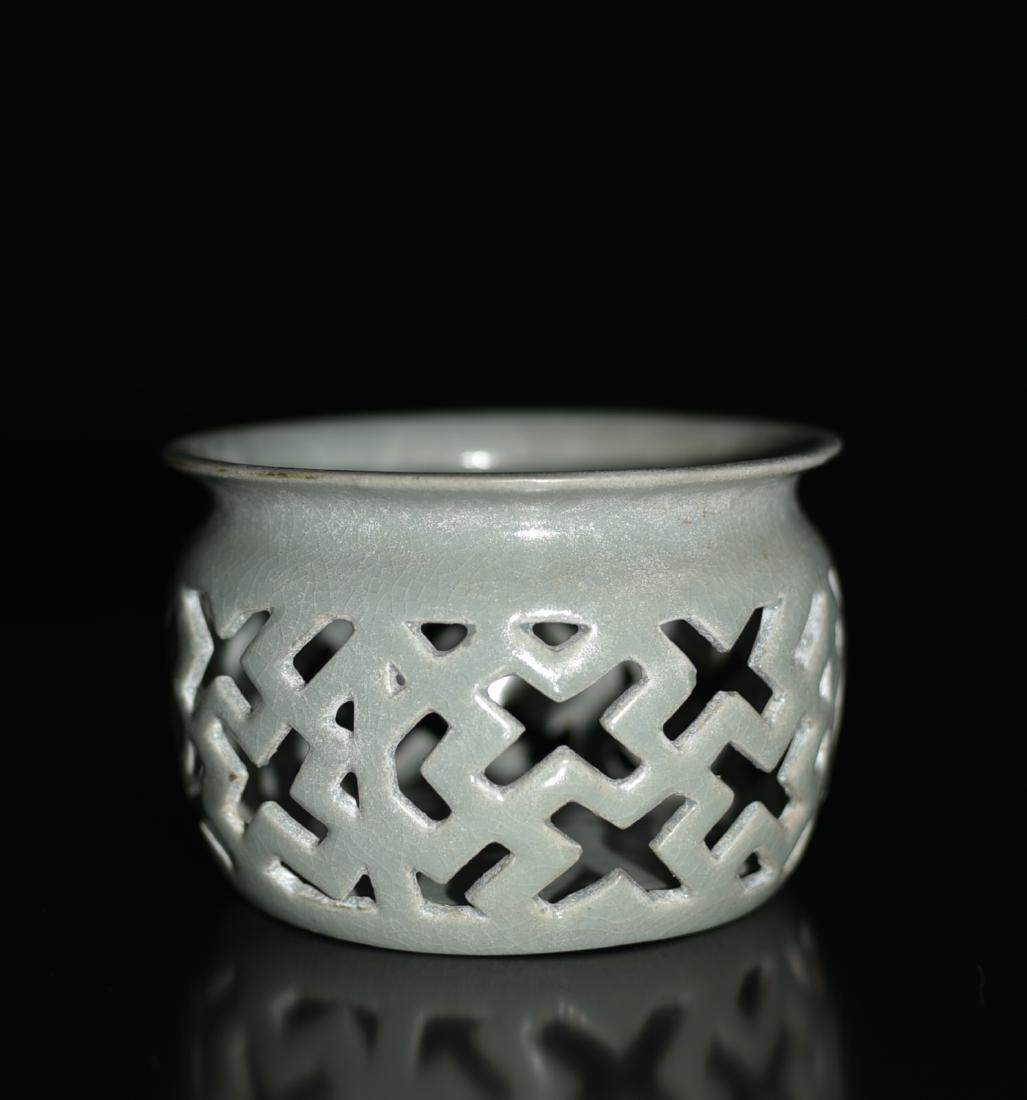 Chinese Celadon Glazed Incense Burner