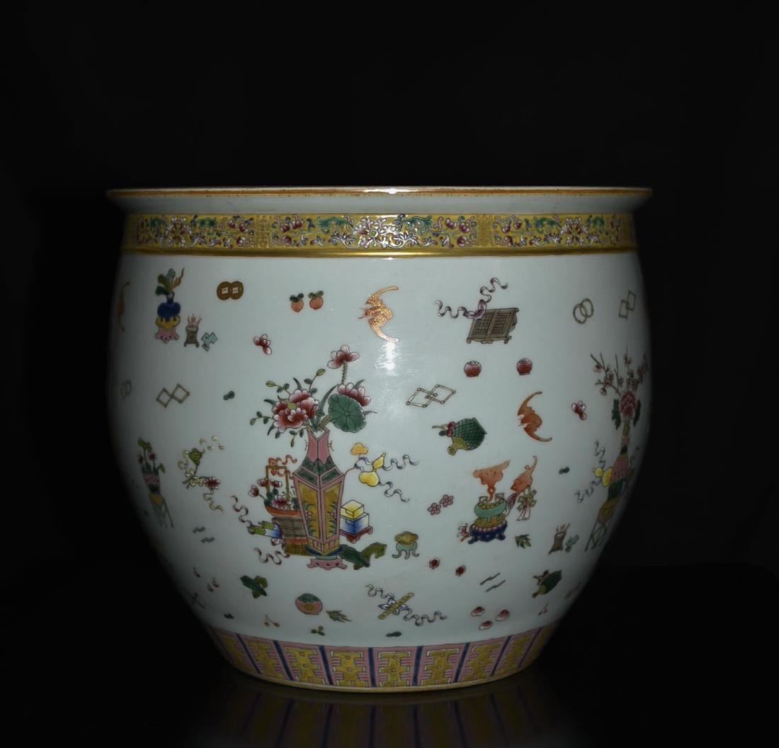 Chinese Famille Rose Porcelain Fish Jar